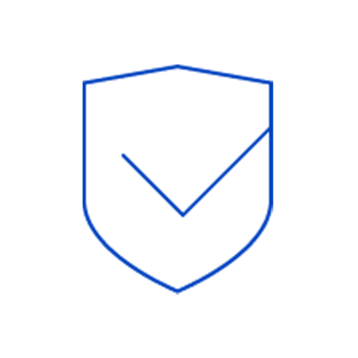Thin blue insurance icon