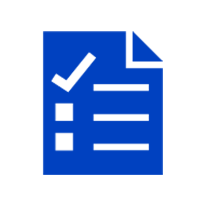 Blue checklist icon