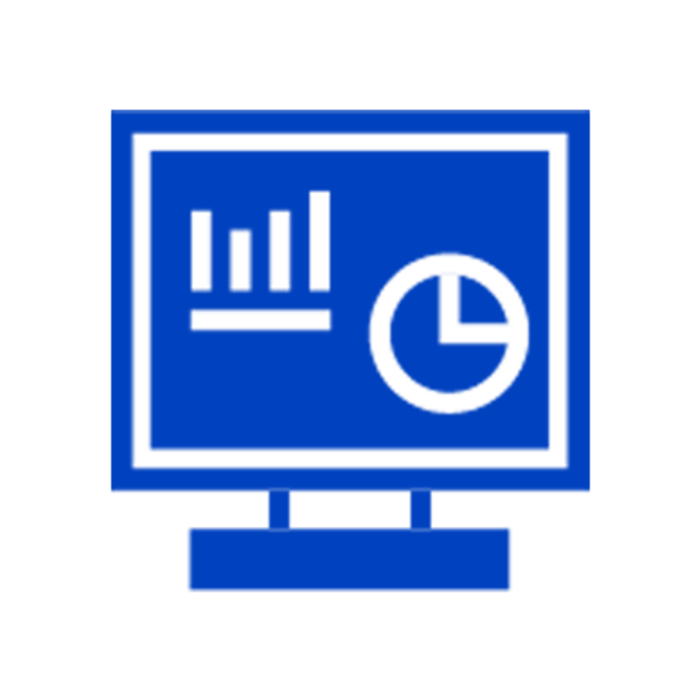 Blue dashboard icon