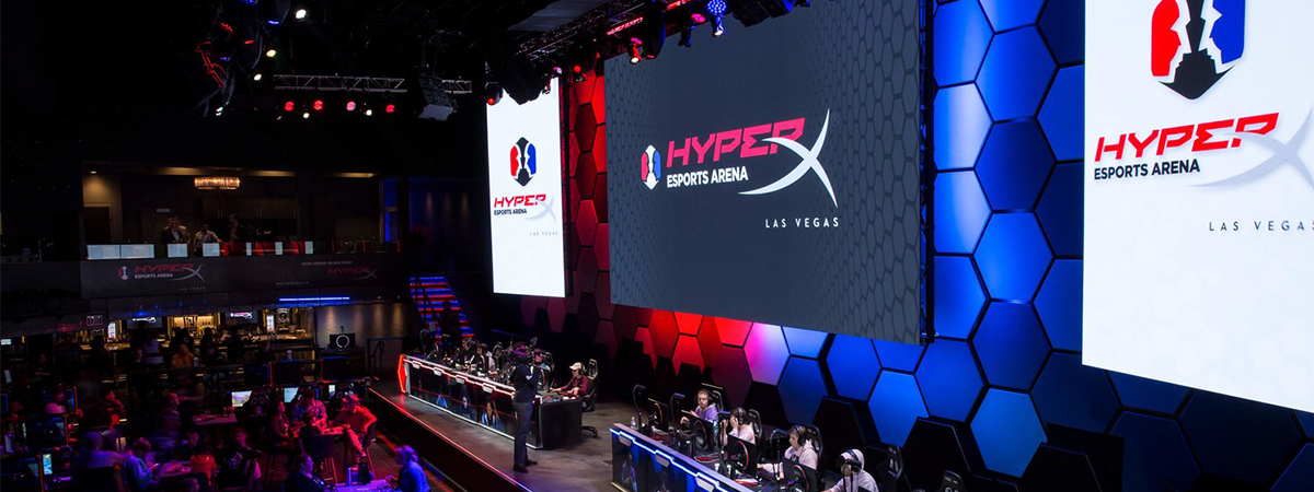 HyperX esports arena e-sports video production live streaming in-house IMAG e ports live streaming production
